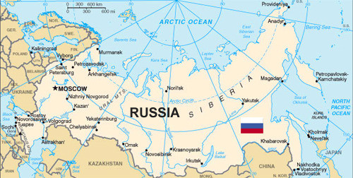 Russia largest country map