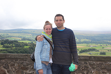 My girlfriend and I at Stirling Castle