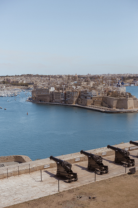 panoramic view of the Grand Harbour, Malta
