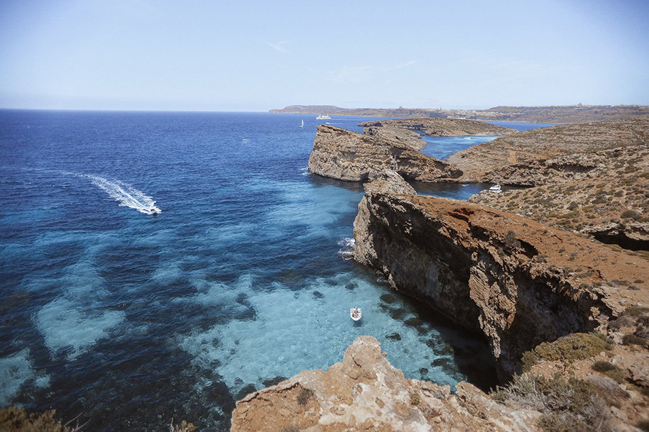 Blue Lagoon, Comino island - the most famous place in Malta