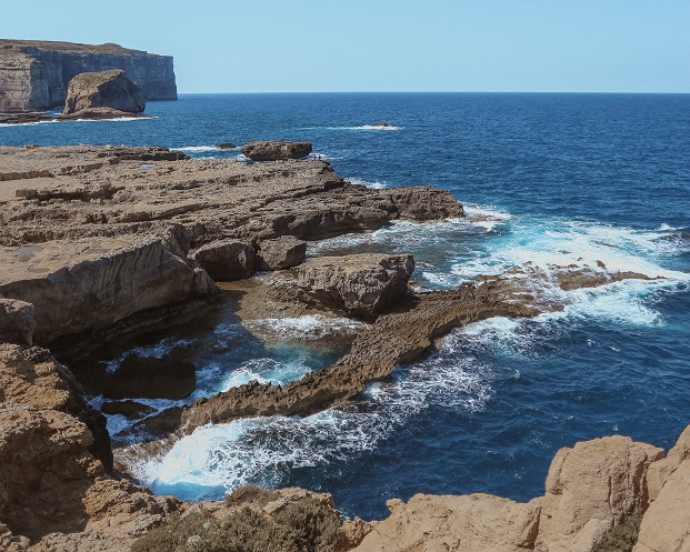 Dwerja, Gozo island. There used to be an Azure Window before the 2017 collapse