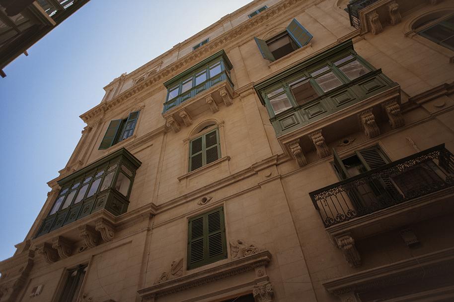 Maltese sandstone building