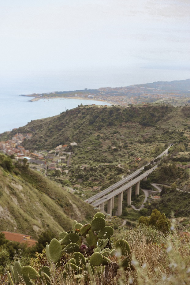 Views from the trekking pass Taormina - Castelmola