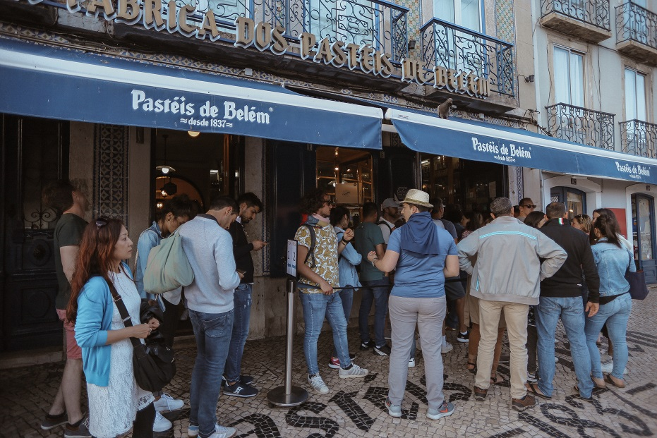 World known Pasteis de Belem