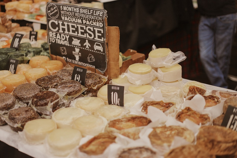 Local cheese on the market