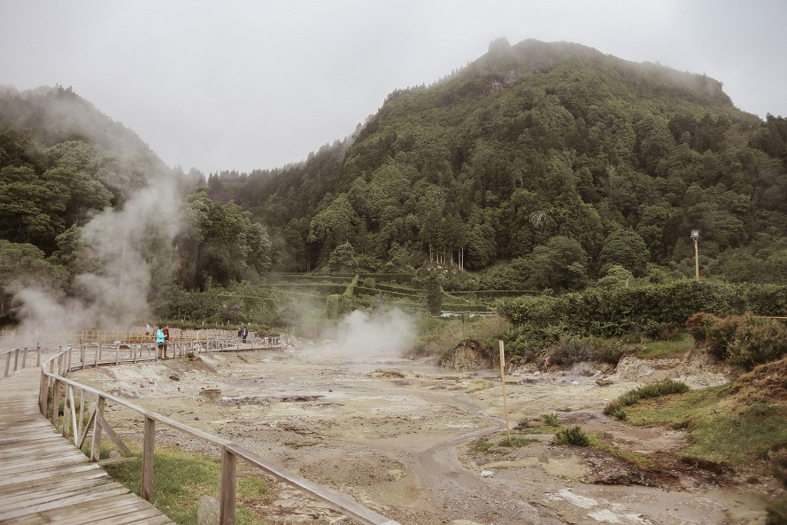 complex of geothermal springs near Lagoa das Furnas