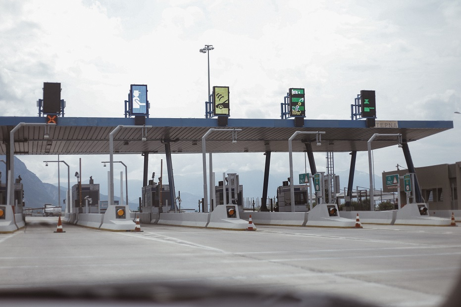 Payment point in a toll road