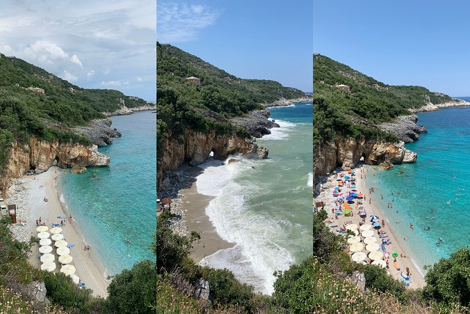 Mylopotamos beach in different days