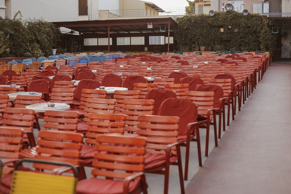 Outdoor cinema in Athens